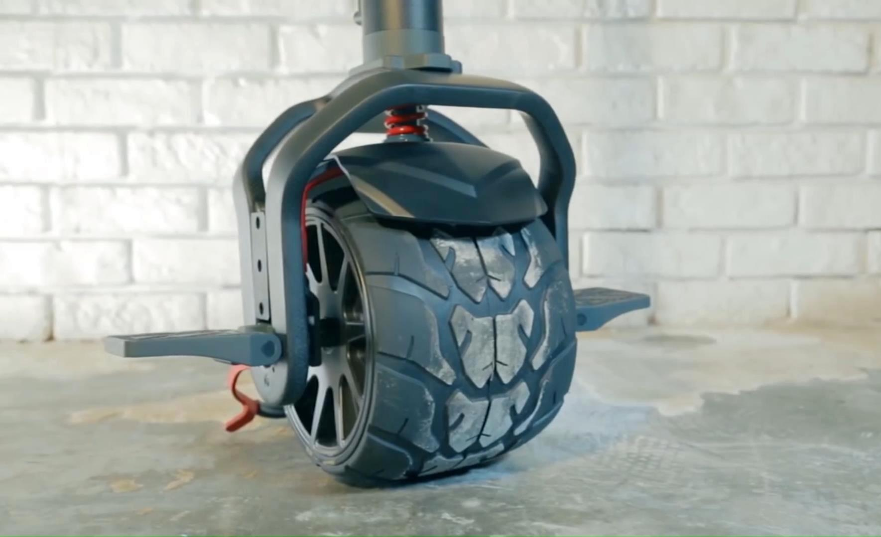 Моноколесо с рулем - амортизатор и подножка