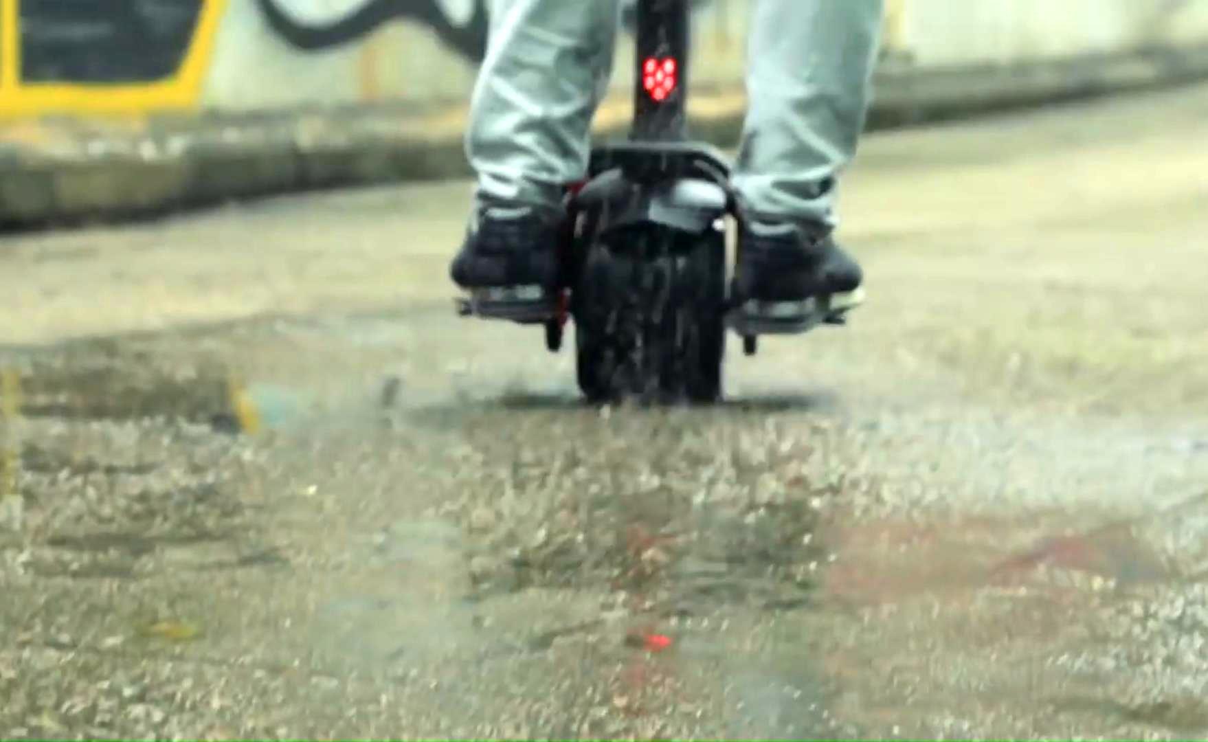 Моноколесо с рулем - влагозащита