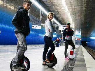Моноколесо в метро