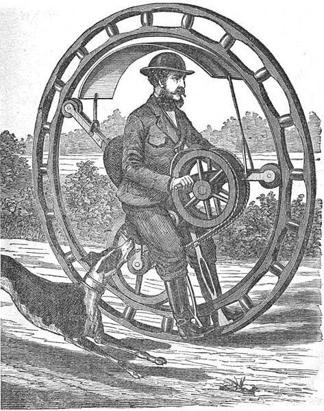 Моноколесо 19го века