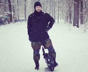 Моноколесо зимой