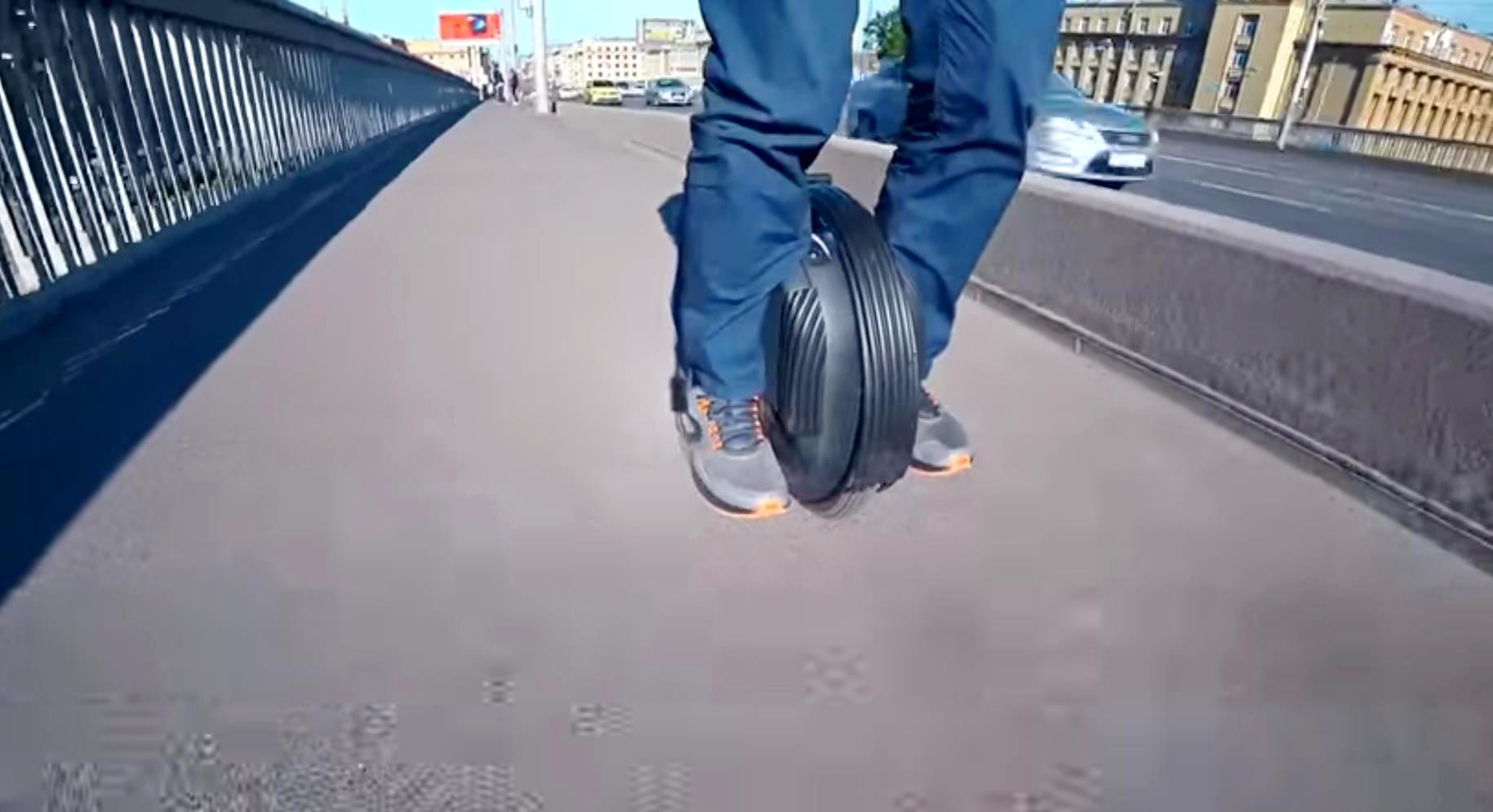Моноколесо, влияние давления в шине и ветра