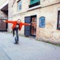 Тимур Артемьев на своем моноколесе