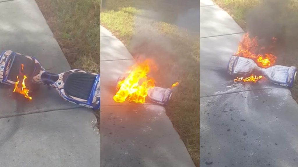 Гироскутер горит