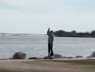 На моноколесе в Финляндии