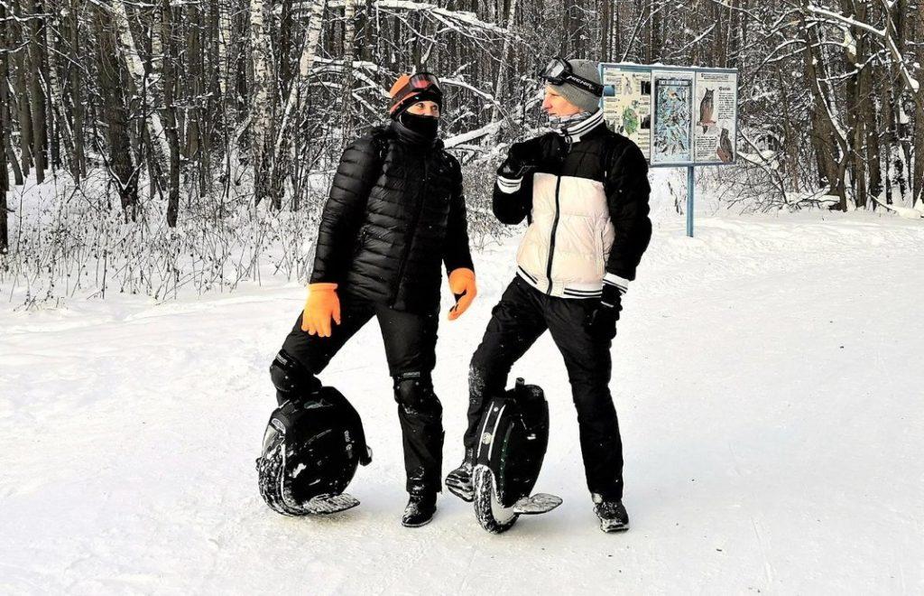 Моноколеса KingSong и NineBot зимой