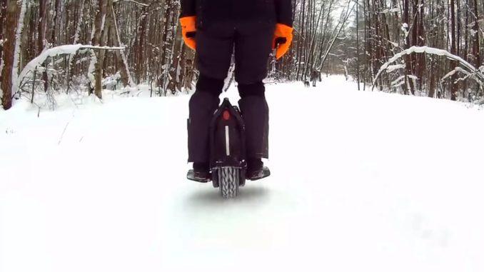 NineBot Z10 по снегу