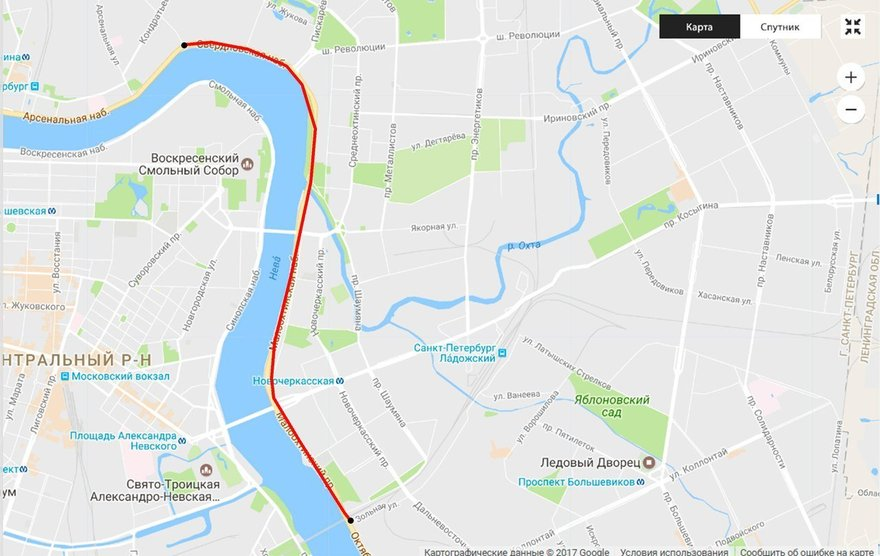 Свердловская - Финляндский мост