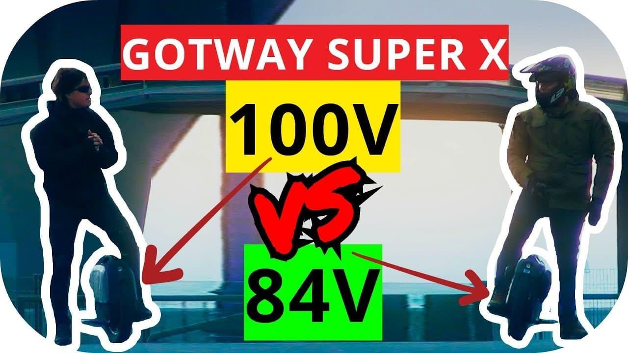 Msuper X 100v против 84v