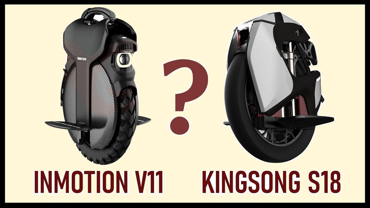 Inmotion v11 и Kingsong S18. Первые колеса с подвеской