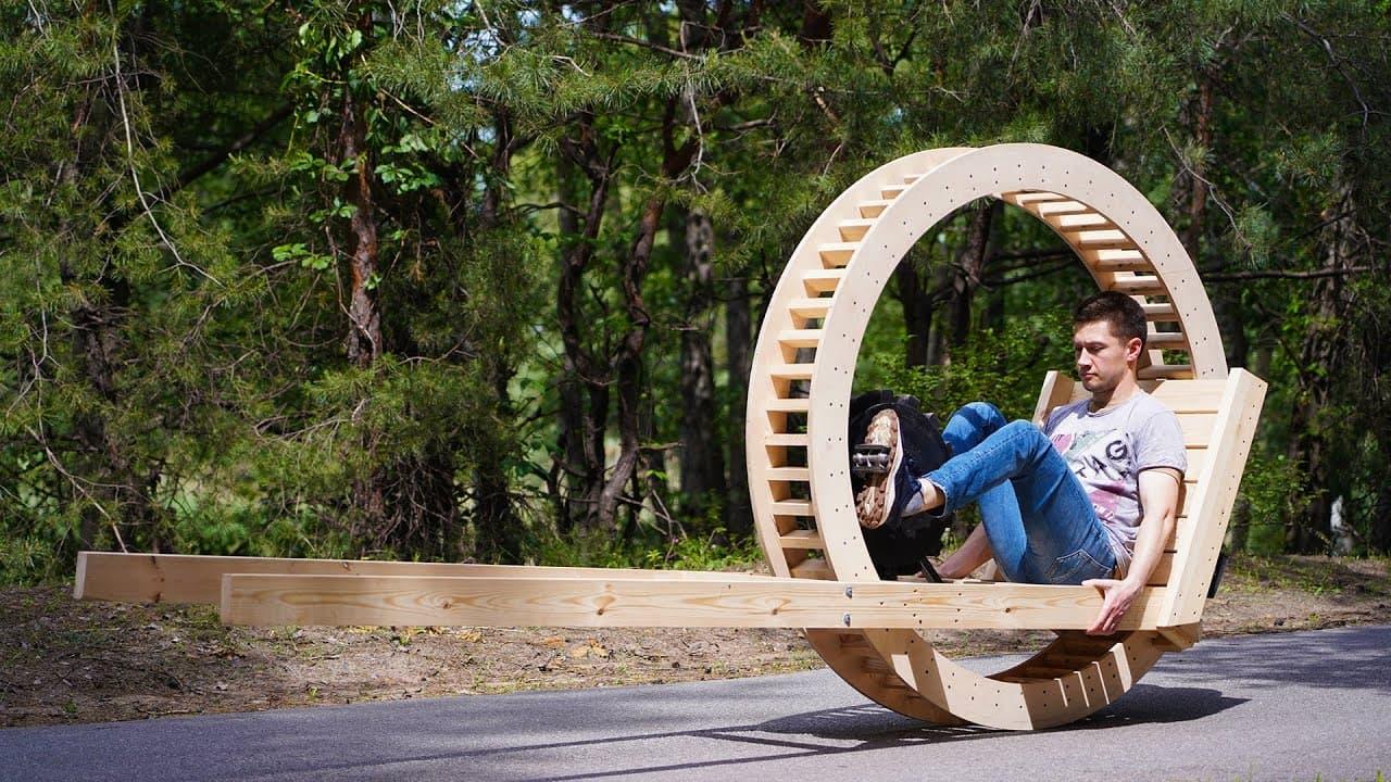 Как сделать моноколесо из дерева