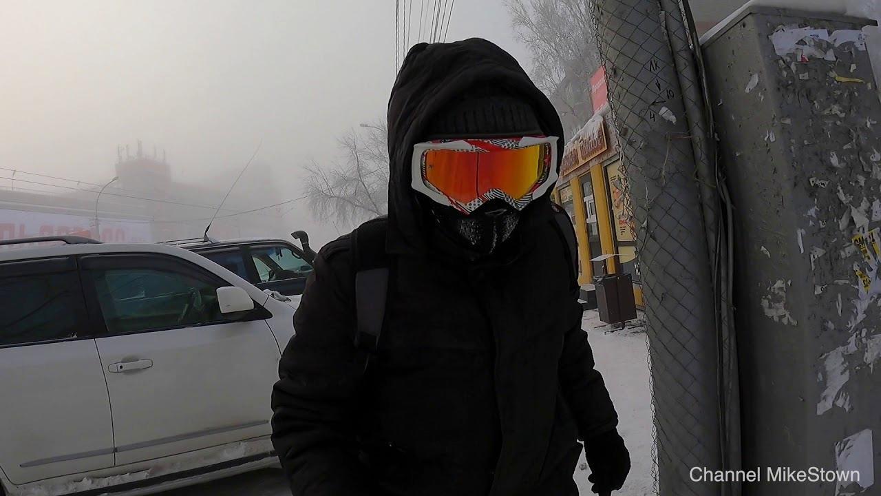Моноколесо зимой в -40°